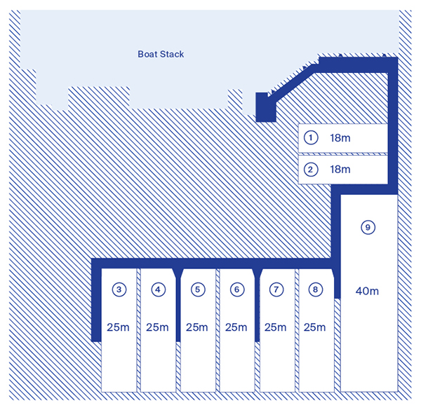 Image of Blue HQ Boat Pen Layout