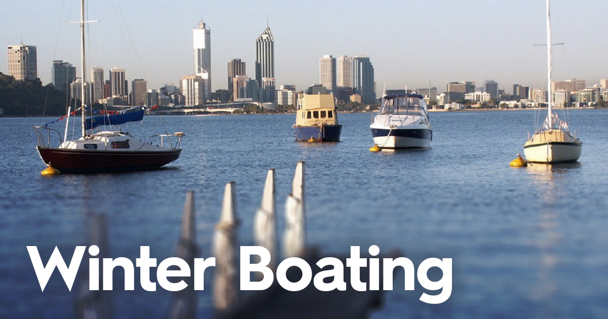 Winter boating in Perth